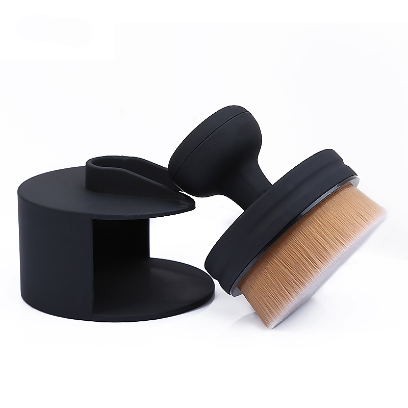 цены на Brand New O! Circle Makeup Brushes Soft Oval Maquiagem Micro Fine 35 Angle Foundation Loose Powder Make Up Brush with Holder