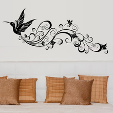 modern black Flying birds silhouette wall decorative stickers living room art decals murals home decor