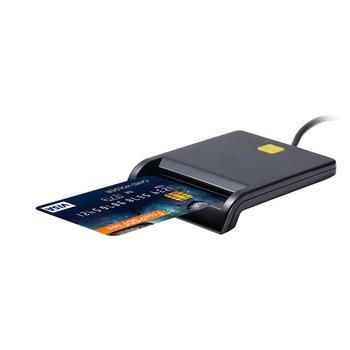 Multi-function USB 2.0 480Mps Smart Card Reader SIM/ IC/CAC/ DNIE /ATM ID /Tax/Bank Card Reader High Quality Black