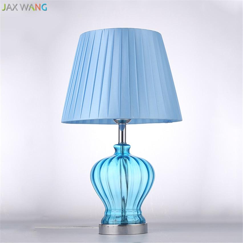 Jw Mediterranean Style Modern Luxury Blue Glass Table