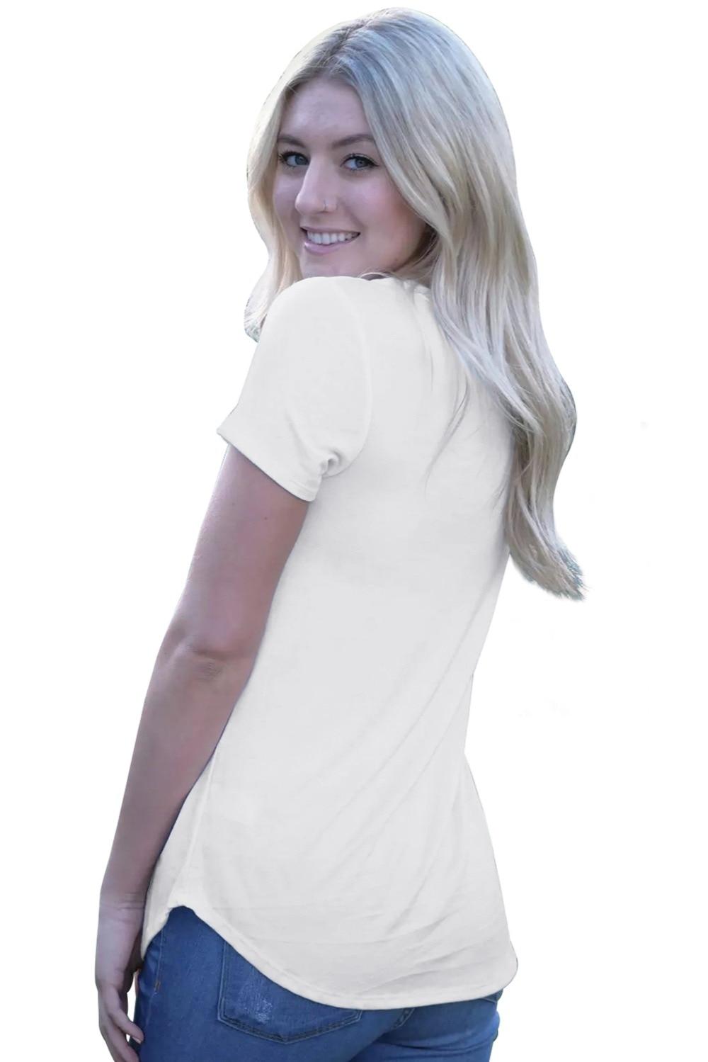 Zmvkgsoa Summer Casual Female Girls T-Shirt America Flag Eagle White Daily T Shirt Femme 2018 Blusas Tshirt For Women V2510910