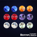 Классические серьги для мужчин, женщин, девушек с кристаллами Swarovski различной цветовой гаммы. Серьги гвоздики. Стиль ювелирных изделий Brincos Bijoux.