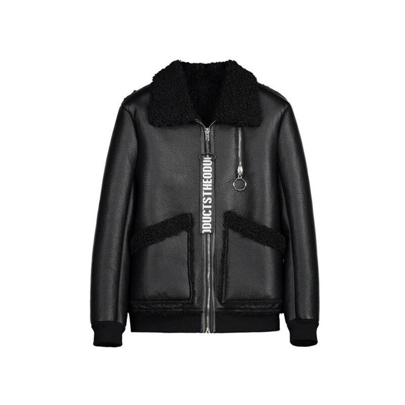 Populaire en Europe et en amérique hommes veste en cuir 2019 hiver Airman nouvelle mèche chaude Zipper hommes Faux cuir manteau M-4XL 9615 - 6