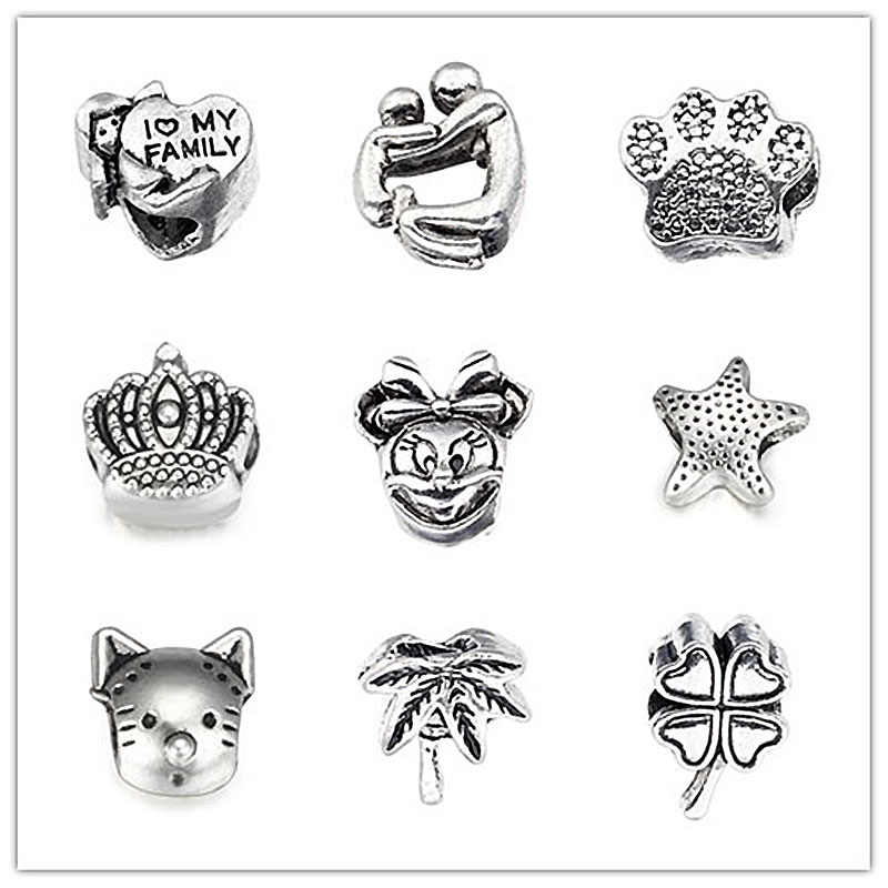 SPINNER moda dijes estrella de mar cuentas para joyería que se ajusta a pulseras de dijes de Pandora