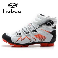 New Original TIEBAO Cycling Shoes Winter Self-Lock SPD Mountain MTB Shoes Men Bike Off Road Bicycle Shoes Sneakers Ankle Boots цена