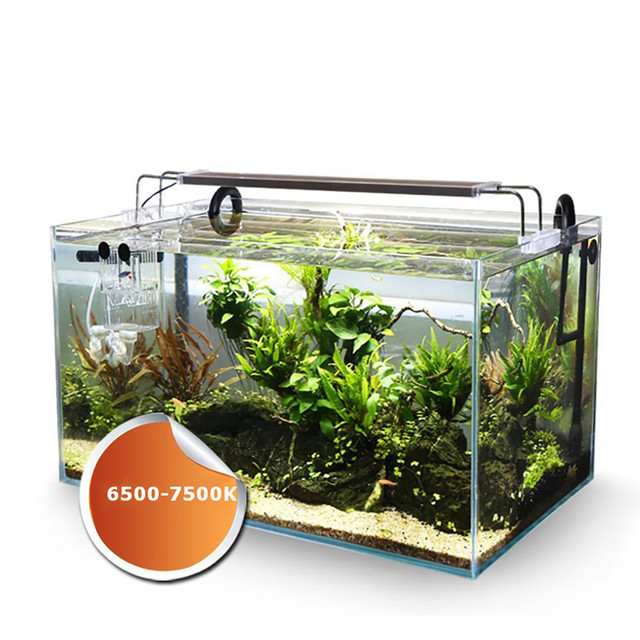 220v ADE Series Slim LED Aquarium Lighting 12-24W LED Overhead Fish Tank Water Plant Grow Lighting 6500-7500K