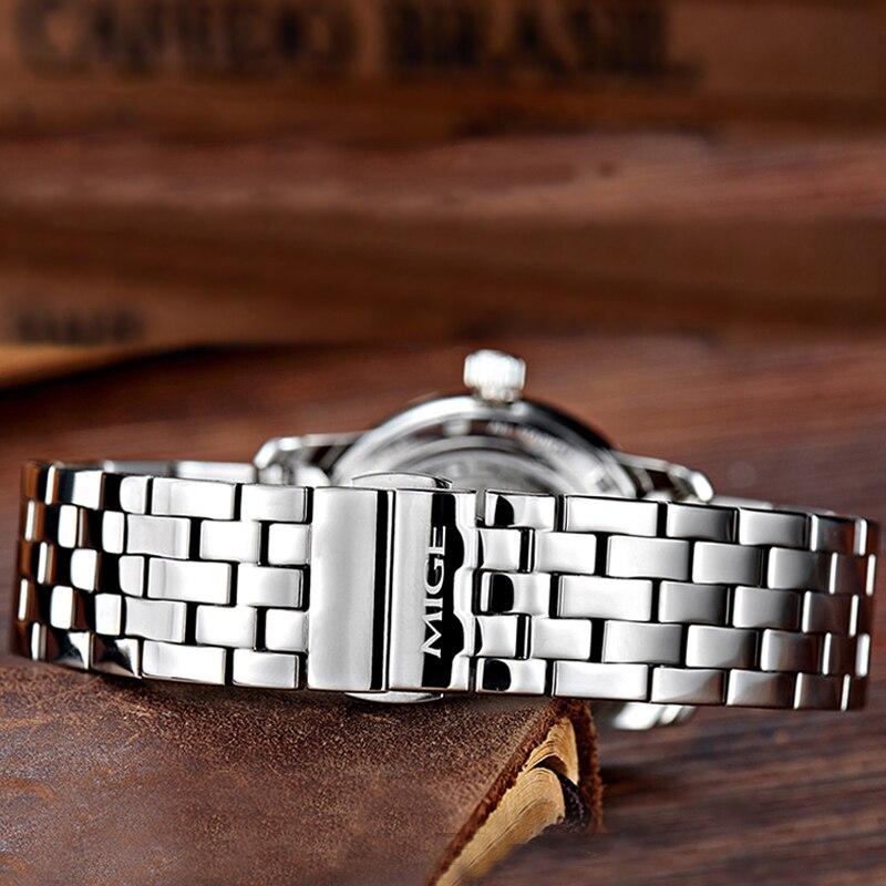 Ossna новые 42 мм Мужские Топ Роскошные часы золотой чехол белый циферблат Дата moon phase многофункциональные Мужские автоматические часы - 3