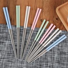 цена на Stainless steel adult children kid style Chopsticks Environmental protection Chopstick 10pair/lot free shipping