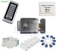 Waterproof RFID ID Metal Case Keypad Reader Security Entry Woden Steel Electric Gate Door Rim Lock