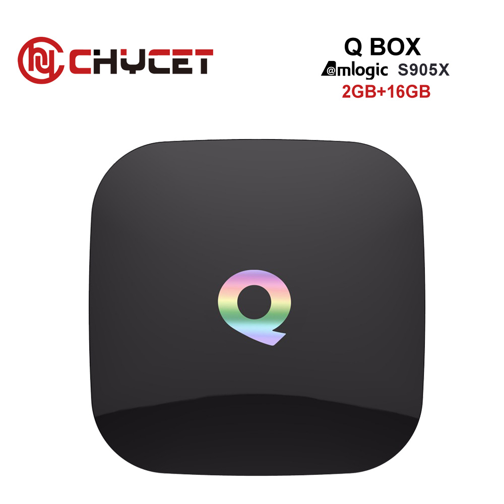 Chycet Fully Loaded Q Box Android 6.0 TV BOX Amlogic S905X 2GB RAM 16GB ROM Smart TV Box Dual Band WiFi BT4.0 Media player m8 fully loaded xbmc amlogic s802 android tv box quad core 2g 8g mali450 4k 2 4g 5g dual wifi pre installed apk add ons