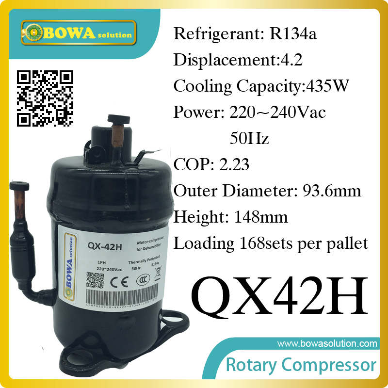 435W Cooling capacity hermetic rotary compressor (R134a) suitable for upright wine refrigerator and mini refrigerator 738w cooling capacity refrigeration compressor r134a suitable for bottle cooler and beverage chiller