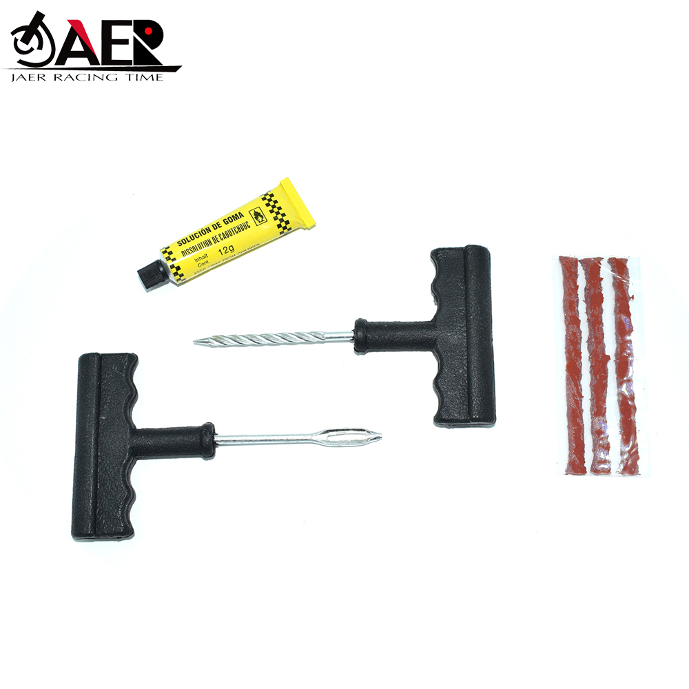 JAER Motocycle Repair Tool Car Tire Repair Kit 4-Piece Repair Tool Set Car Motorcycle Battery Car Tire Repair Tool Puncture Plug