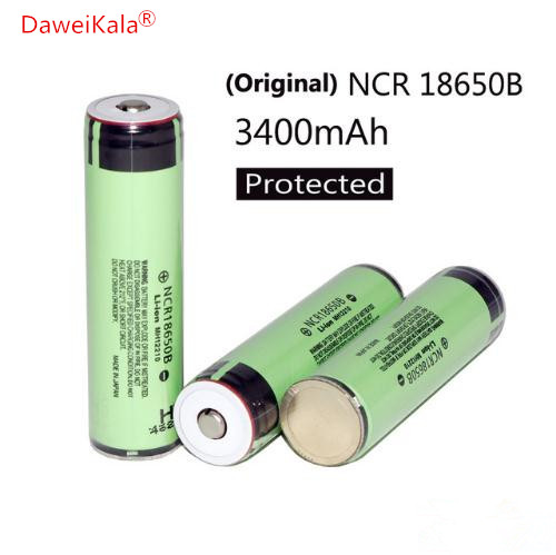 3PCS 100% New secure Original NCR18650B 3400mAh 18650 Rechargeable Battery with PCB 3.7v for Panasonic Flashlight batteries 2017 liitokala new original 18650 3400mah battery rechargeable li ion ncr18650b 3 7v 3400 battery