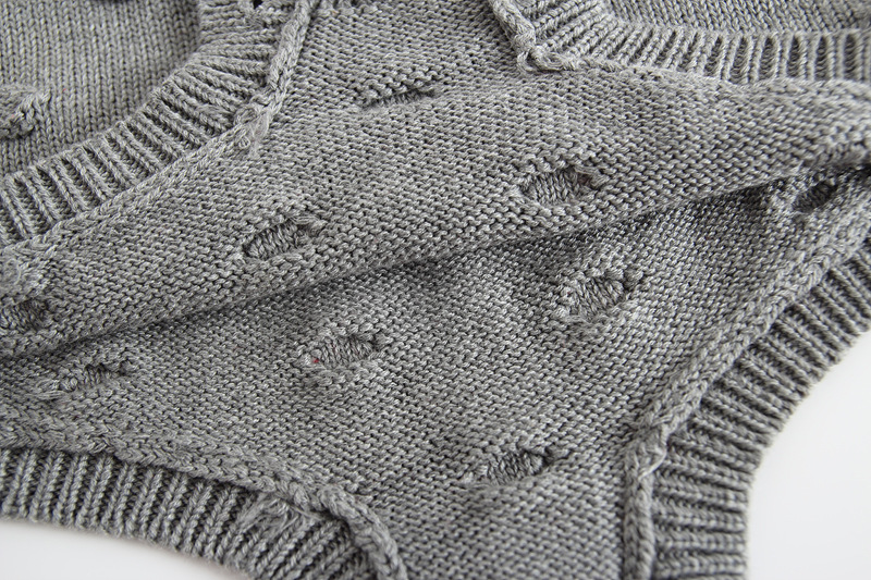 5232282cb New Grey Knit Baby Jumpsuit Autumn Spring Pakaian untuk Kanak-kanak ...