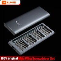 Original Xiaomi Mijia Wiha Daily Use Screw Kit 24 Precision Magnetic Bits Alluminum Box Wiha DIY