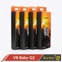 5pcs Lot Original Smok TFV8 Baby Q2 Coil Baby Cloud Replacement Coil Head Q2 X4 T8