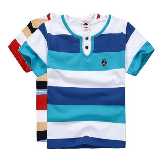 c34c420f549e0 Haute Qual qualité enfants d été vêtements garçons t-shirt à manches  courtes col