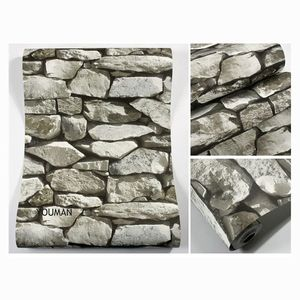 Image 5 - Wallpaper 3D Retro pvc vinyl wallpaper 3D Personality Stone Pattern Living Room Wall Decor Restaurant Waterproof 3D Wall papers