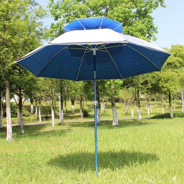 Bset Selling Outside Furniture Patio Umbrellas Lightweight Aluminium Alloy  Rod Umbrella Windproof Beach Umbrella