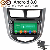 4GB RAM Android 8.0 Car GPS DVD For Hyundai Solaris Accent Verna I25 Navigation Radio Video Car Stereo Multimedia Player