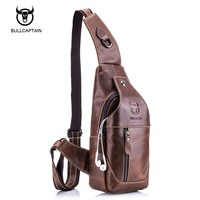 Bullcaptain 2017 Small Brand Casual Messenger Bags MEN Shoulder BAGS Fashion GENUINE Leather MALE Crossbody Bag