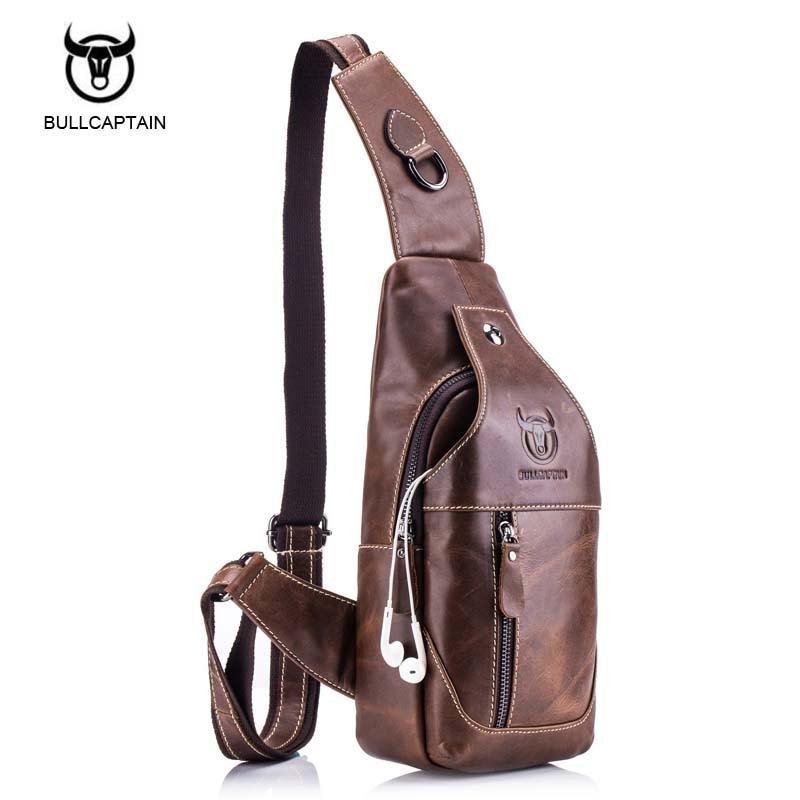 2604cf20f7f6 Bullcaptain 2017 Small Brand casual messenger bags MEN Shoulder BAGS  Fashion GENUINE Leather MALE Crossbody Bag men chest bag