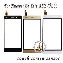 Черный Белый Передняя Стеклянная Линза + Сенсорный Экран Digitizer Для Huawei P8 Lite ALE-UL00 Замена для Мобильного Телефона ЖК-Экран случае