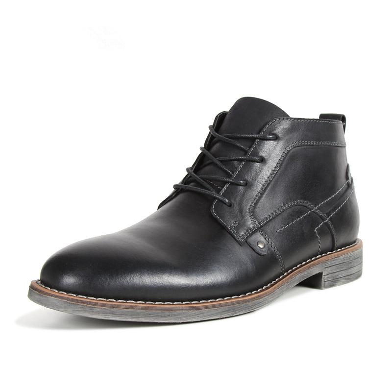 76 Mode À Nouveau Hiver La ~ 71 Belle D'hiver Chaud Black Chaussures Main coffee Cheville Style Plus Grande Hommes Super brown Bottes Taille PkiXZu