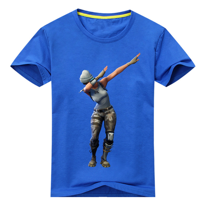 Kids Hot Game Dab T-shirt Costume Boys Summer 3D Print Tees Tops Clothes Children Tshirt Clothing For Baby Cotton T Shirt DX057 fashion baby girl t shirt set cotton heart print shirt hole denim cropped trousers casual polka dot children clothing set