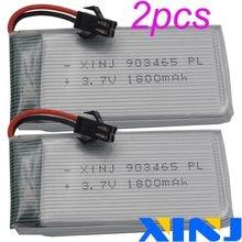 XINJ 2 stuks 3.7V 1800 mAh 25C Oplaadbare Lithium Polymer Li Po batterij SM plug 903465 voor RC Model voertuig RC Quadcopter Drone