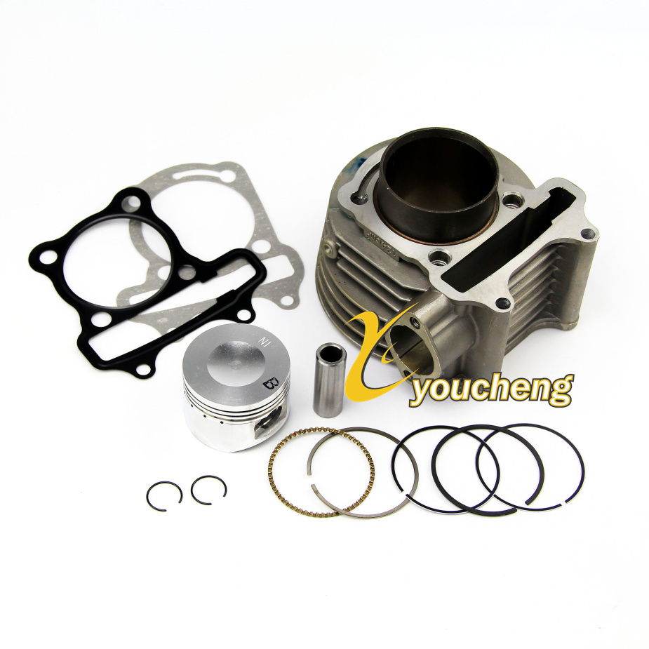 Cylindre corps assemblage 57.4mm alésage cylindre reconstruit Kit pour GY6 150cc ATV aller Kart Mope gros TG-GY6150