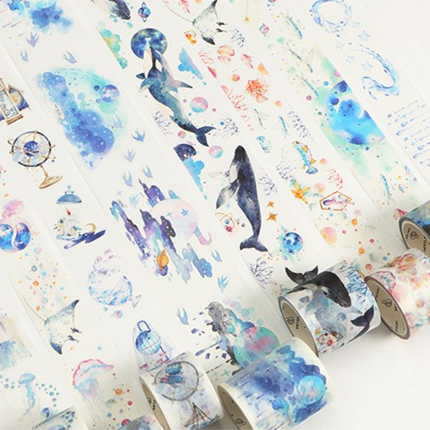 20 Style Fantasy Ocean Star Adhesive Washi Tape Kawaii DIY Decorative Masking Tape For Scrapbooking Photo Album