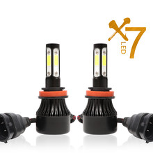 H7 LED H4 Lampu LED H11 LED 9005 9006 Kit Bulb 72 W 8000LM Putih High Power 6500 K Mobil styling Drop Pengiriman(China)