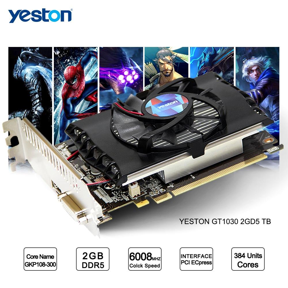 Yeston GeForce GT 1030 GPU 2GB GDDR5 64 bit Gaming Desktop computer PC Video Graphics Cards support yeston geforce gt 1030 gpu 2gb gddr5 64 bit gaming desktop computer pc video graphics cards support