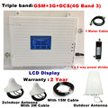 TriBand Voor 2 Kamers GSM 2G 3G 4G repeater 3G 4G Versterker 900 WCDMA 2100 LTE 1800 cellulaire Signaalversterker 70dB Gain gsm Repeater