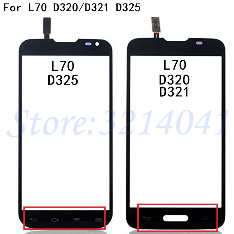 Touch Screen For LG L70 D320 D321 D320N Dual D325 Touchscreen LCD Display Digitizer Front Panel Glass Cover