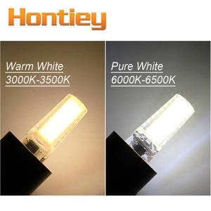 Image 5 - Hontiey cob led G4 G8 G9 BA15D 220 v 110 v ミニ電球シリコーンクリスタルライトシャンデリアハロゲンスポットライト縫製機調光対応