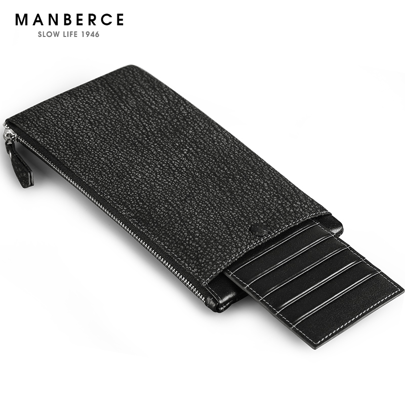 Brand Men's Wallet MANBERCE Men Genuine Leather Wallets Mens Cowhide Purse Credit Card Holder Man Long Wallet Free Free Shipping  padieoe brand 2017 new men wallet genuine leather cowhide purse credit card wallet large capacity men s wallet free shipping