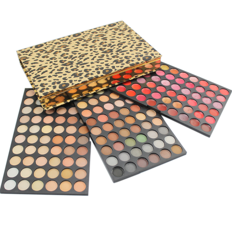 ФОТО Pro 180 Full Color Shimmer Matte Eyeshadow Palette Beauty Cosmetic Eyeshadow Lip Gloss Makeup Palette Kit