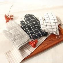 1Pc Non-slip Cotton Oven Glove Heat Resistant Microwave Insulated Baking Gloves Kitchen Tool Mitten Thickening