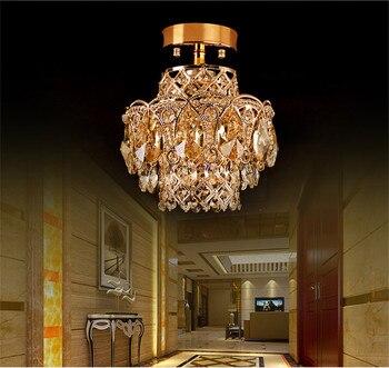 Lámparas De Pasillo | De Lujo Elegante K9 Colgante De Cristal Luces Brillo LED Comedor Habitación Proyecto De Luz Lámpara De Pasillo Decoración De Luz De Cristal