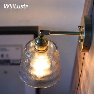 Image 2 - Frosted gehamerd glas wandkandelaar licht handgemaakte nordic kristallen eetkamer hotel bar restaurant luxe koper messing cafe lamp