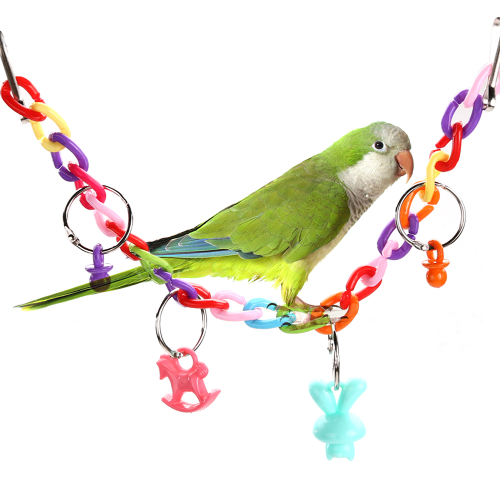 Pet Products Parrots Rotate Ladder Standing Parrot Bird Chewing Biting Toys Parrot Playing Platform Cage Climbing Toy With Hanging Hook
