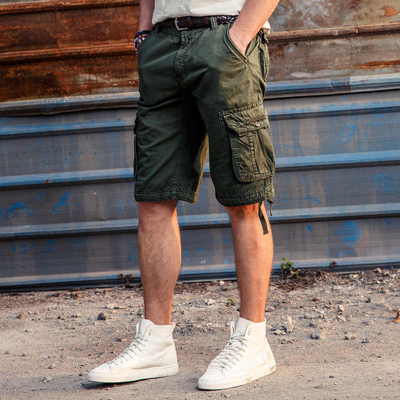 e99be70528 ... 2019 Summer Men's Army Work Casual bermuda cargo Shorts Men Fashion  Joggers Overall military Tactical Trousers