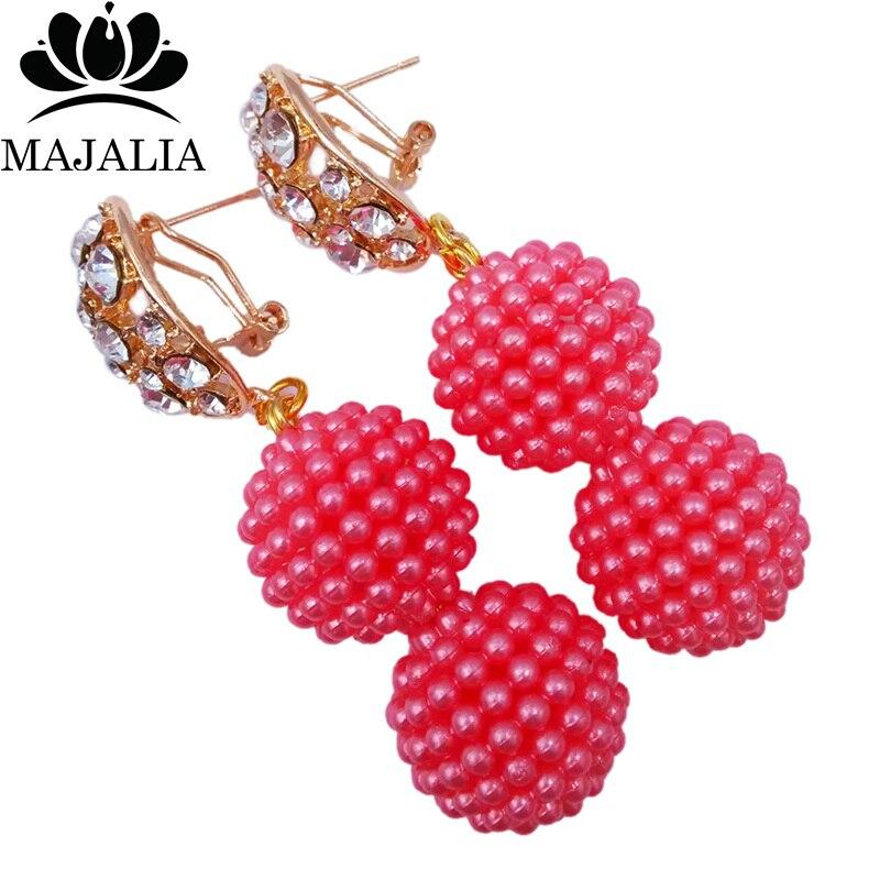 e7b0d4fb7cf7 Conocida majalia moda nigeriana boda Africana perlas joyería conjunto coral  rosa de cristal collar de perlas de plástico novia Juegos de joyería 3lm005  en ...