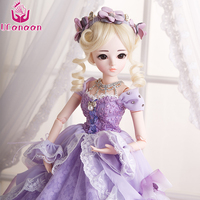 UCanaan 1/3 BJD SD Doll Sweet Princess Girl BJD Dolls With Maxi Long Party Dress Wig Shoes Makeup 18 Joints Moveable Body Toys