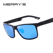 MERRY'S Men Polarized Sun glasses Aluminum Magnesium Sun Glasses Driving Glasses Rectangle Shades S'8571