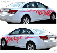 Car modified flame element totem personalized decoration sticker pull body stickers flame decoration stickers 1Pair