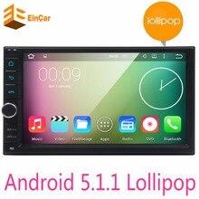In Dash Universal Quad Core 2 Din Android 5.1 Car Audio Stereo GPS Wifi Bluetooth Radio (No) CD Player Automotive gps navi playe