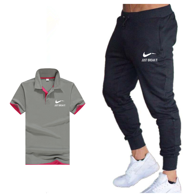 Classic Brand Sets New Summer Men T Shirts+pants Sets Summer Hot Sale Cotton Comfortable Short Sleeve Tshirt men Casual Set Pan